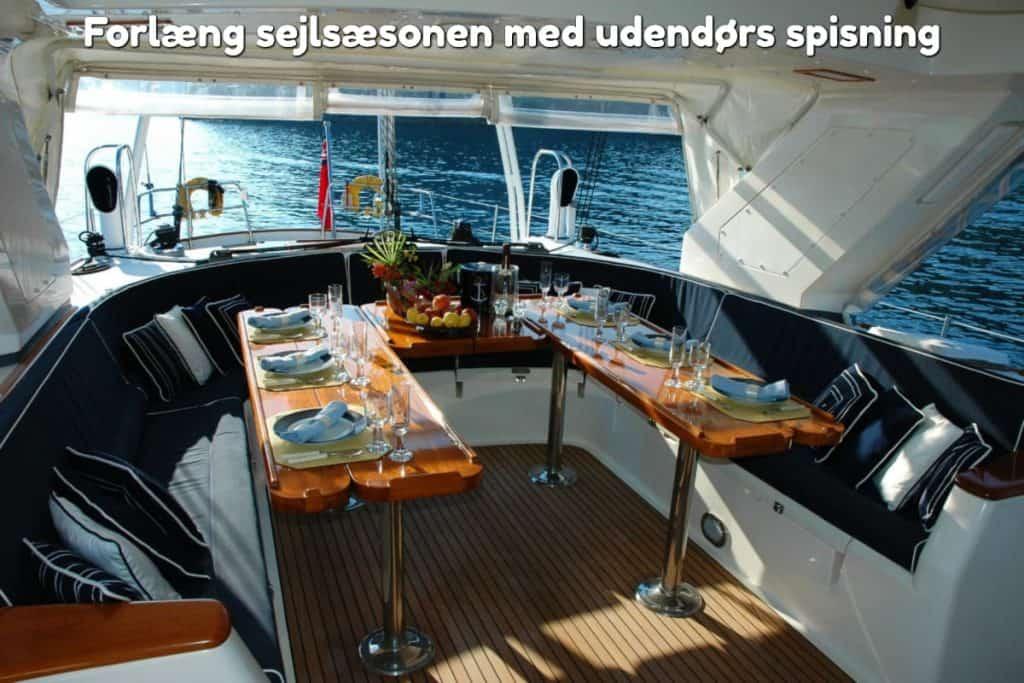 Forlæng sejlsæsonen med udendørs spisning
